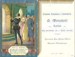 """2027 """" PREMIATA PASTICCERIA E CONFETTERIA G. MONATERI-TORINO-CALENDARIO 1936 """" ORIGINALE - Formato Piccolo : 1921-40"""