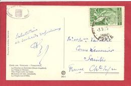 Y&T N°68 VATICAN    Vers  FRANCE 1935  2 SCANS - Lettres & Documents