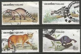 Thailand - 1991 Wild Animals Used   Sc 1425-8 - Thailand