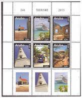 Aruba 2015 Toerisme Tourism Church Cruise Ship Lighthouse MNH With Tab - Curacao, Netherlands Antilles, Aruba