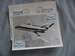 Lot De 4 Mystere 20  Salon Aeronautique Obliteration - Poststempel (Briefe)