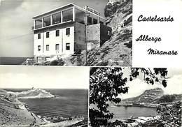 Gd Format: Env 15cms X 10cms -ref 241- Italie - Italia - Italy- Castelsardo Albergo Miramare /-leger Pli Haut Droit - Italy