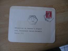 Mardore Recette Auxiliaire  Obliteration Sur Lettre - Marcophilie (Lettres)