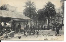 CANNES  PLACE DU MARCHE FORVILLE ( VOYAGE 1903 PAS COURANTE ) - Cannes