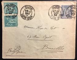 Entier France 1894 Sage 15c Bleu &  N°75 X2 Oblitérés De Dijon Pour Bruxelles - 1898-1900 Sage (Type III)