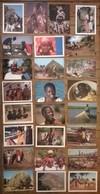 Lot De 25 Cartes Postales / Personnages D' AFRIQUE /a - Postcards