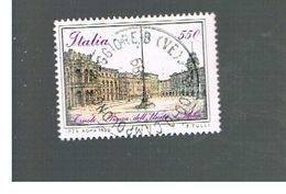 ITALIA REPUBBLICA  - SASS. 1841       -      1988    PIAZZE D' ITALIA, TRIESTE          -      USATO - 1946-.. République