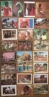 Lot De 25 Cartes Postales / Personnages D' AFRIQUE /b - Non Classés