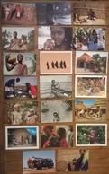 Lot De 20 Cartes Postales / Personnages D' AFRIQUE - Cartes Postales