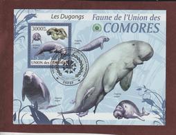 COMORES - Bloc Feuillet N° 193 De 2009 - Oblitéré - LES DUGONGS - Faune De L'UNION DES COMORES - Comores (1975-...)