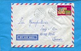 MARCOPHILIE-Gabon-lettre>Françe-cad MOKOKOU-1971-  Stamp N°371 Marché D'arachides - Gabon (1960-...)