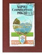 ITALIA REPUBBLICA  - SASS. 1805  -      1987    NAPOLI CAMPIONE  -      USATO - 6. 1946-.. República