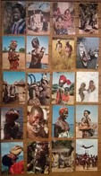 Lot De 20 Cartes Postales / Personnages D' AFRIQUE EN COULEURS /b - Non Classés