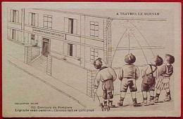 Cpa HUMOUR  ENFANTS URINANT Sur Les Murs De La GENDARMERIE , CONCOURS DE POMPIERS , BOYS URINATING FIREFIGHTERS COMIC - Humour