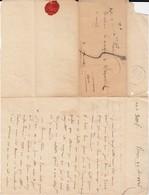 Marcoussis   Marquis De Salperwick Cachet De Cire De L'expéditeur 1826 - Documents Historiques