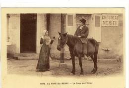 Carte Postale Ancienne Au Pays Du Berry - Le Coup De L'Etrier - Alcool, Cheval - Autres Communes