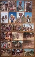 Lot De 20 Cartes Postales / Personnages D' AFRIQUE EN COULEURS /d - Non Classés