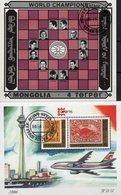 Schach-Sport 1981 Mongolia Blocks 113+256 O 23€ Fisher Euwe Spasski Kasparow CAPEX Hb Ss Art Blocs M/s Sheets Chess - Mongolie