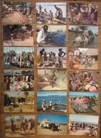 Lot De 18 Cartes Postales / Personnages D' AFRIQUE EN COULEURS - Non Classés
