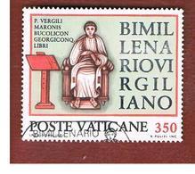 VATICANO - VATICAN - UNIF. 688 - 1981 BIMILLENARIO VIRGILIANO  - (USED°) - Vatican