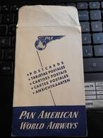 19830) SACCHETTO PORTA CARTOLINE PAN AMERICA WORLD AIRWAYS 1950 CIRCA - Aviazione Commerciale