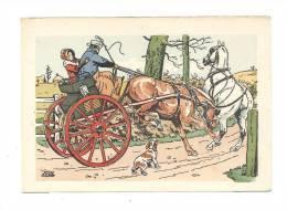 Carte Illustrateur    Le Rallic  CP77   -  Cabriolet   Et   Diligence - Illustrators & Photographers
