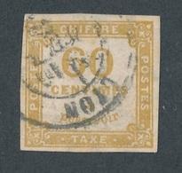 CI-1: FRANCE: Lot Avec Taxe N°8 Obl 2ème Choix(clairs Et Pelurage Au Verso Mais Assez Beau D'aspect - Taxes