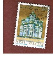 """VATICANO - VATICAN - UNIF. 838  - 1988 MILLENARIO DEL BATTESIMO """"RUS' DI KIEV"""": CATTEDRALE DI S.SOFIA     - (USED°) - Vatican"""