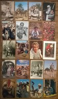 Lot De 20 Cartes Postales / Personnages D' AFRIQUE / MAROC - Maroc