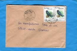 MARCOPHILIE-Gabon-lettre>Françe-cad MOKOKOU-1971-2  Stamp N°442 Birds-oiseaux Pseudocelidon - Gabon