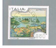 ITALIA REPUBBLICA  - SASS. 1755     -      1986  TURISTICA:  ACITREZZA   -      USATO - 1946-.. République