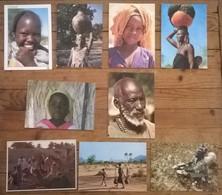 Lot De 9 Cartes Postales / Personnages D' AFRIQUE / TCHAD - Chad