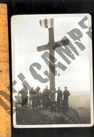 Photographie Format Cabinet : Erection De La Croix De Rochefort à BEAUJEU Rhône Le 20 Aout 1931 - Luoghi