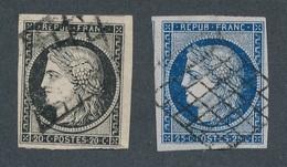 CI-5: FRANCE: Lot Avec N°3 Et 4 Obl TB - 1849-1850 Ceres