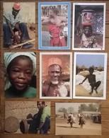 Lot De 8 Cartes Postales / Personnages D' AFRIQUE / BENIN - Benin
