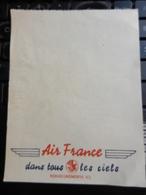 8c) FOGLIETTO BLOCCO NOTES AIR FRANCE1955 CIRCA - Aviazione Commerciale