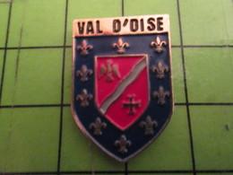 512c Pins Pin's / Rare & De Belle Qualité  THEME : AUTRES / FLEUR DE LYS VAL D'OISE BLASON ECUSSON ARMOIRIES - Autres