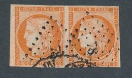 CI-6: FRANCE: Lot Avec N°5 PAIRE Obl Pc 78 ( Avec Filets Corrects Et Pts Défauts En Marge) - 1849-1850 Ceres