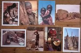 Lot De 8 Cartes Postales / Personnages D' AFRIQUE / BURKINA FASO - Burkina Faso
