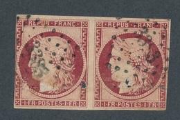 CI-7: FRANCE: Lot Avec N°6 PAIRE Obl Pc 3383 ( TRES Défectueux, Plis, Tros, Etc..) - 1849-1850 Ceres