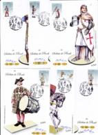Série 4665 à 4670  Soldats De Plomb Sur CM  CaD De Coulonges Sur L'Autize Du 10 6 2012 Signées Par Irolla - 2010-...