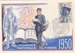 Carte Maximum Journée Du Timbre 1950 Facteur Rural  CaD De Paris - Maximum Cards