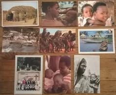 Lot De 9 Cartes Postales / Personnages D' AFRIQUE / TOGO - Togo