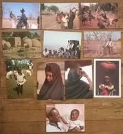 Lot De 11 Cartes Postales / Personnages D' AFRIQUE / MALI - Mali