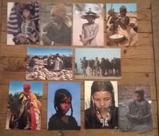 Lot De 12 Cartes Postales / Personnages D' AFRIQUE / NIGER - Niger
