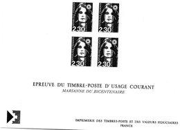 Epreuve Du Timbre Poste D'usage Courant - France