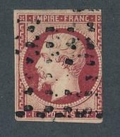CI-10: FRANCE: Lot Avec N°18 Obl Gros Points Signé 2 Fois Dont Calves(défectueux, Court, Petite Déchirure Et Clair) - 1853-1860 Napoleon III