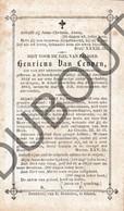 Doodsprentje Henricus Van Leuven °1824 Schoonbroek Retie †1883 Geel Lid Vh Genootschap Der Xaverianen (F251) - Décès