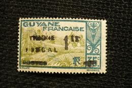 Timbres Fiscal Guyane N°62 Surchargé 1fr  ( Sans Gomme Usagé) - Steuermarken