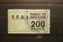 Timbres Fiscal 200 Fr Dimension Surchargé TFAI  (territoire Afars Et Isas Djibouti ) - Steuermarken